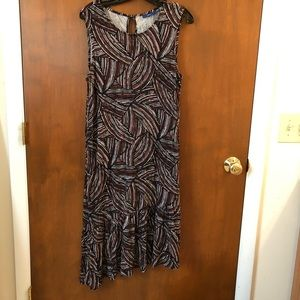 Apt. 9 Asymmetrical hem dress; size L